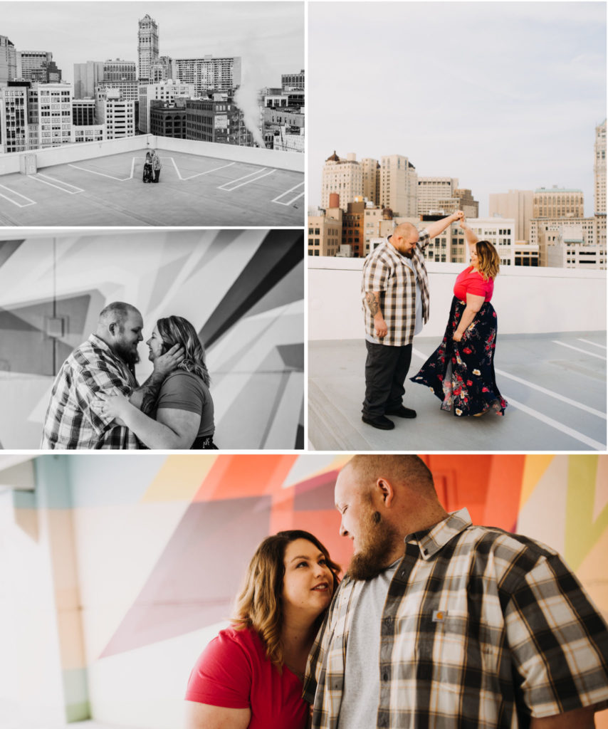 Downtown Detroit Engagement Session Belt Z Detroit Public Library