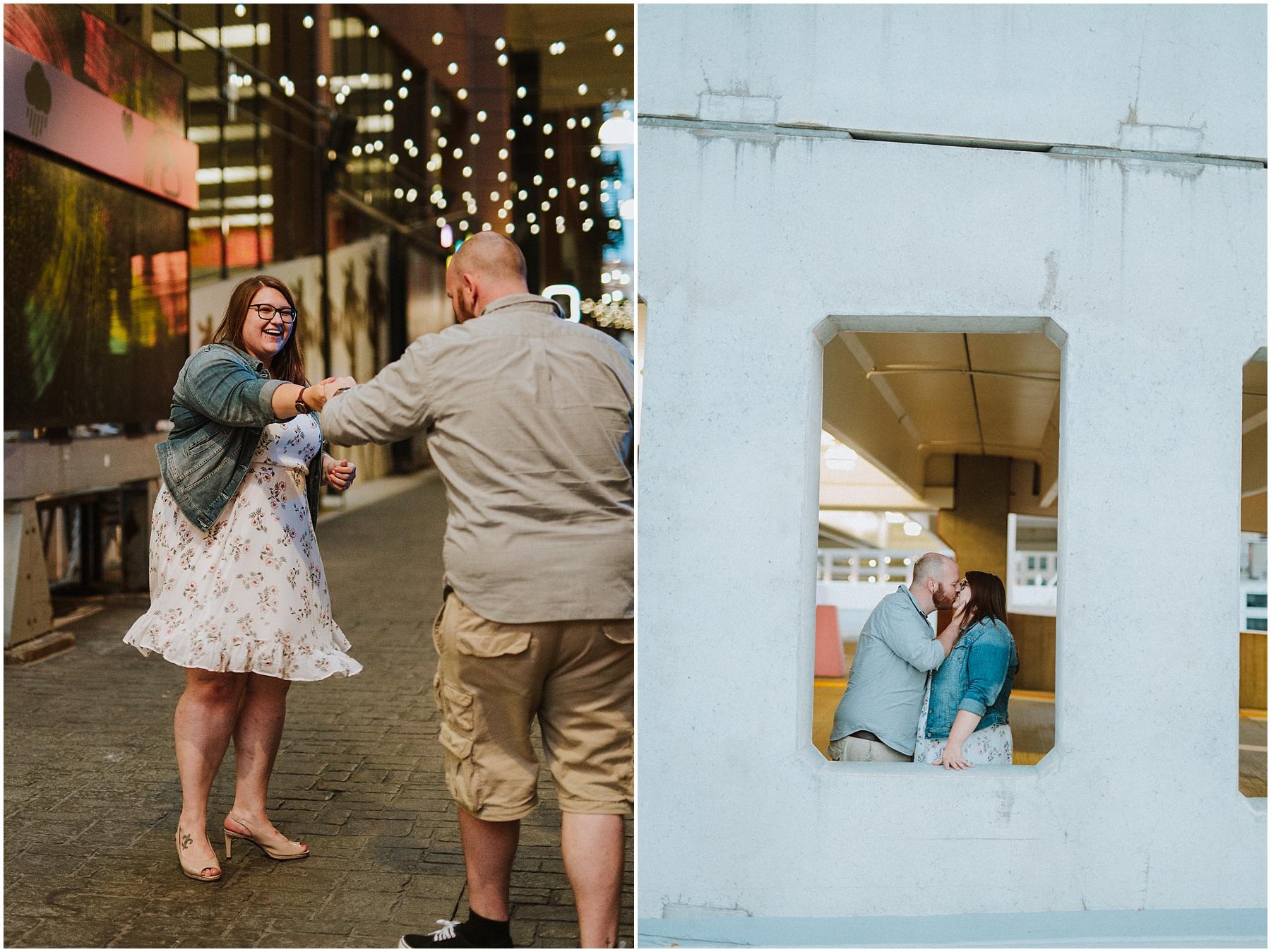 Downtown Detroit Dequindre Cut engagement session