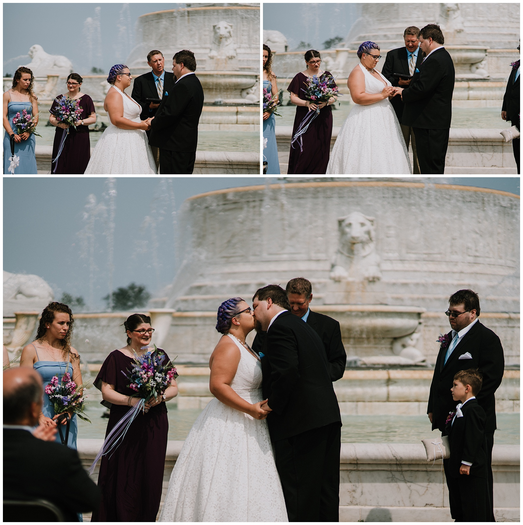 Belle Isle Fountain Wedding