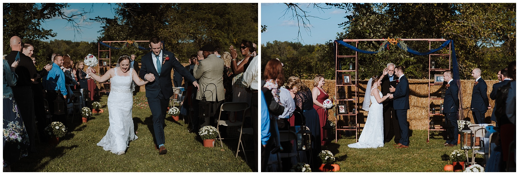 Fall Backyard Wedding Michigan